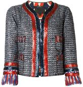 Marc Jacobs sequinned tweed jacket - women - Polyester/Nylon/Rayon/Cotton - 4