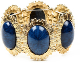 Amrita Singh Gold & Blue Hera Stretch Bracelet