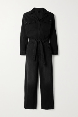 Mother The Belted Fixer Denim Jumpsuit - Black