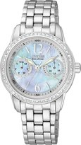 Citizenx Citizen #FD1030-56Y Women's Eco Drive Silhouette Stainless Steel MOP Dial Watch