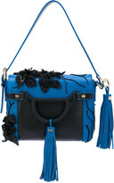 Borbonese contrast fringed shoulder bag - women - Leather - One Size