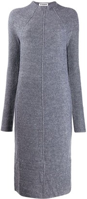 Jil Sander piped seams knitted dress