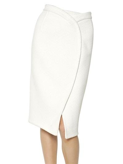 Proenza Schouler Bonded Wool Bouclè Skirt