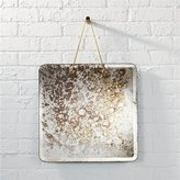 CB2 Motley Antiqued Mirror With Chain