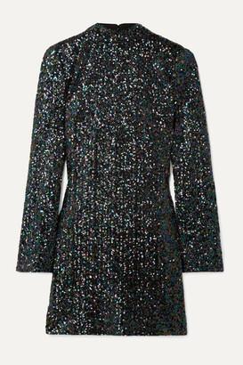 Rachel Zoe Pierina Sequined Tulle Mini Dress - Black
