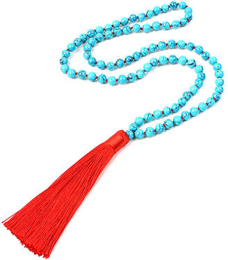 Amrita Singh Glass Beaded Fabric Tassel 32In Necklace