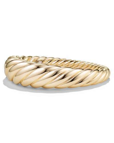 David Yurman 17mm Pure Form Cable 18K Bracelet, Size M