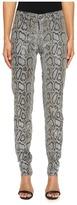 Versace Snake Printed Skinny Pants Women's Jeans