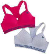 U.S. Polo Assn. 2pk Sports Bra With Lace