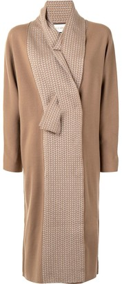 Alexis Pattern Knit Detail Knit Coat