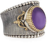 Konstantino Erato Amethyst Doublet Band Ring, Size 7
