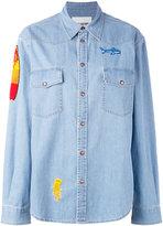 Ava Adore patched denim shirt