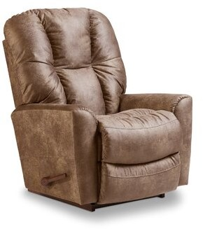 """Thumbnail for your product : La-Z-Boy 36"""" Wide Manual Rocker Standard Recliner Fabric: Brown"""