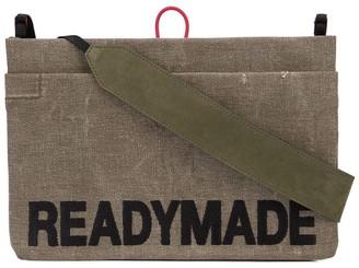 Readymade logo embroidered shoulder bag