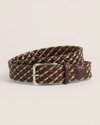 Torino Brown & Taupe Woven Leather Belt