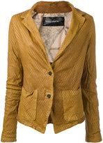 Giorgio Brato leather jacket - women - Cotton/Leather/Nylon - 42