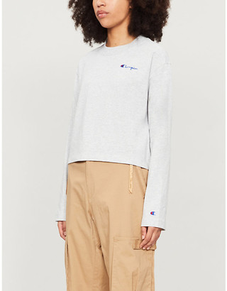 Champion Logo-embroidered cotton-blend top