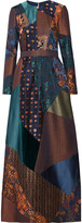Etro Embellished patchwork jacquard gown