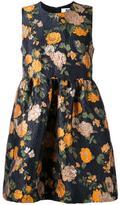 MSGM floral print jacquard dress - women - Acrylic/Polyamide/Polyester/Metallic Fibre - 46