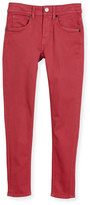 Burberry Skinny Stretch Denim Jeans, Pink, Size 4-14
