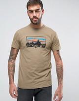 Patagonia 73 Logo T-shirt Slim Fit In Khaki Marl