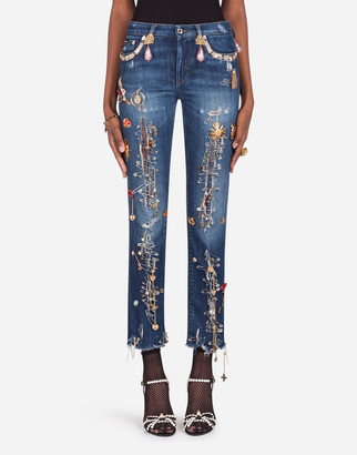 Dolce & Gabbana Pretty Fit Jeans With Decoration
