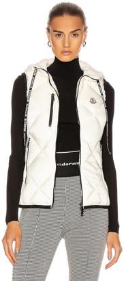 Moncler Sucrex Gilet Vest in Ivory   FWRD