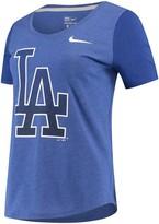 Nike Women's Royal Los Angeles Dodgers Tri-Blend Scoop Neck T-Shirt