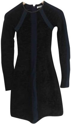 Issa Black Cotton - elasthane Dresses