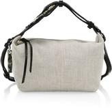 Ganni Leather-Trimmed Canvas Hobo Bag
