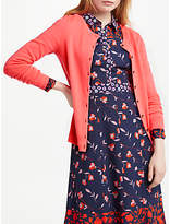 Boden Cashmere Crew Cardigan, Bright Watermelon