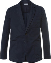 Dries Van Noten Blue Bailey Slim-Fit Unstructured Cotton and Linen-Blend Canvas Blazer