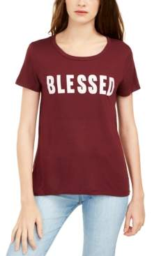 Love Tribe Juniors' Feeling Blessed Graphic Print T-Shirt