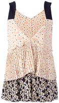 Marni sleeveless tiered blouse