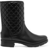 Moncler New Piccadilly Stiva Quilted Leather Boots - Black