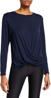 Terez Twist Front Long-Sleeve T-Shirt