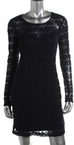 GUESS Womens Uma Lace Long Sleeves Cocktail Dress