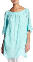 Luma Embroidered Cold-Shoulder Tunic