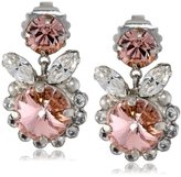 """Sorrelli Crystal Rose"""" Fancy Flutter Earrings"""