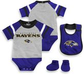 NFL Baltimore Ravens 3-Piece Creeper Bib and Bootie Set