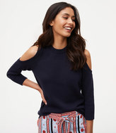 LOFT Halter Cold Shoulder Sweater