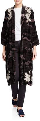 Johnny Was Santal Velvet Kimono Coat
