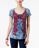 INC International Concepts Embroidered T-Shirt, Only at Macy's