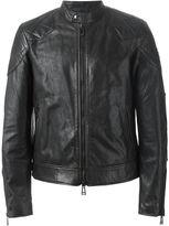 Belstaff zip leather jacket - men - Cotton/Leather/Viscose - 48
