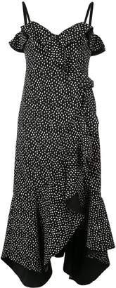 Jonathan Simkhai Speckle print ruffled dress