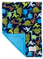 Baby Laundry Minky Dinosaur/Bump Blanket in Azure