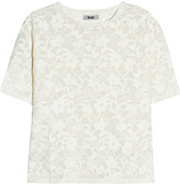 Acne Wonder lace-effect jersey T-shirt