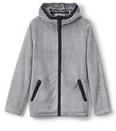 Lands' End Girls Softest Fleece Jacket-Silver
