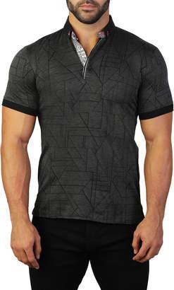 Maceoo Men's Mozarttrigo Mercerized Cotton Polo Shirt