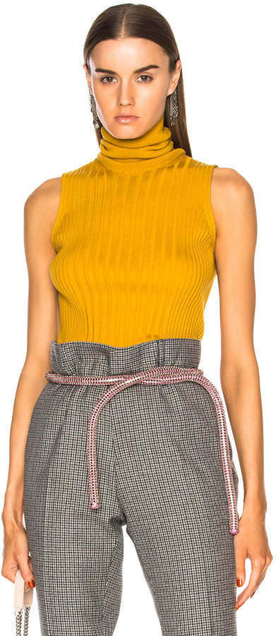 Maison Margiela Turtleneck Sleeveless Knit Top